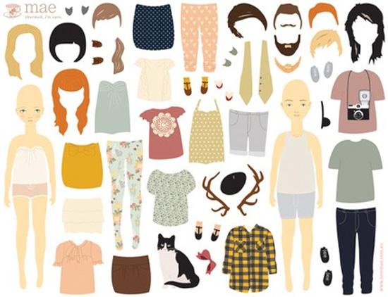 Dress Up Dolls - artatheart