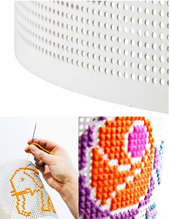 Stitch-lampshade